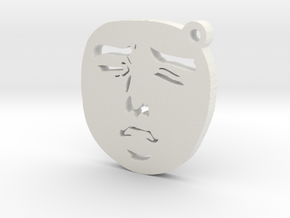 Yaranaika Face Charm in White Natural Versatile Plastic