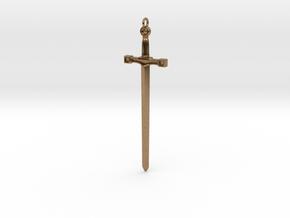 Excalibur Sword in Natural Brass