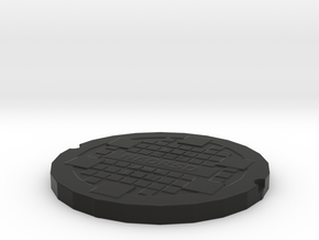 manhole cover in Black Strong & Flexible
