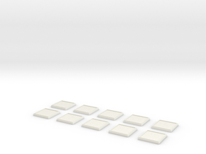 Square Model Base 1 Inch X10 in White Natural Versatile Plastic