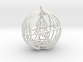 Christmas Tree Spinner Bauble (moving part) decora in White Natural Versatile Plastic