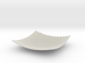 Square Bowl HoneyComb Mesh Structure Fuit bowl Key in White Natural Versatile Plastic