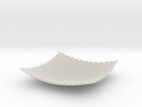Square Bowl HoneyComb Mesh Structure Fuit bowl Key in White Natural Versatile Plastic