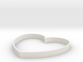 Heart Design in White Natural Versatile Plastic