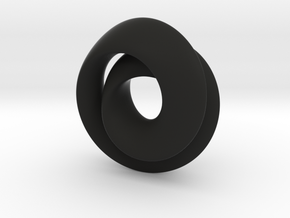 Hourglass - double mobius - small in Black Strong & Flexible