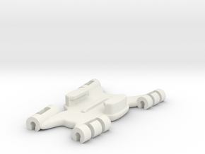 GoPro Kite Line Mount Flat Connector in White Natural Versatile Plastic