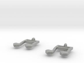 Musical Heart Earrings in Metallic Plastic
