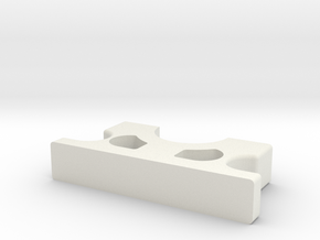3/4 Clamp Bottom in White Natural Versatile Plastic