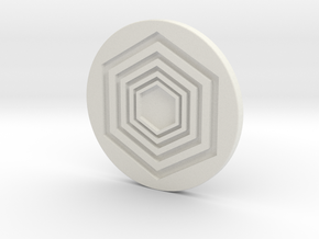 Ball Marker in White Natural Versatile Plastic