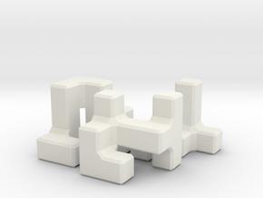 Easy Microcube in White Natural Versatile Plastic