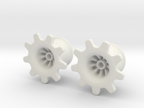 "Gear-ring Plugs 1/2"" in White Natural Versatile Plastic"