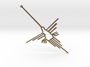 Nazca: The  Humming Bird in Natural Bronze