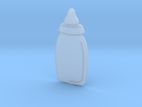 Baby Bottle in Smooth Fine Detail Plastic
