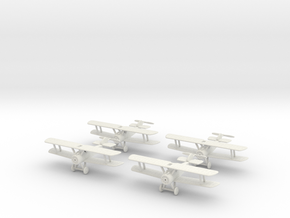 1/144 Sopwith Camel (x4) in White Natural Versatile Plastic
