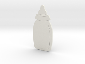 Baby Bottle in White Natural Versatile Plastic