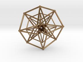 Sacred Geometry: Toroidal Hypercube Double 50mm in Natural Brass
