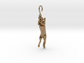 Cat Earing1 in Natural Brass