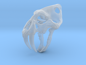 saber tooth keychain in Smooth Fine Detail Plastic