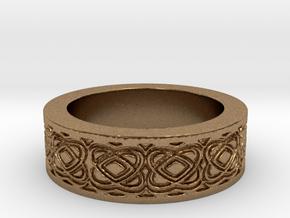 Celtic Design Ring Size 8 in Natural Brass