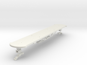 #87-2301 - Interurban Box Car - Underframe in White Natural Versatile Plastic