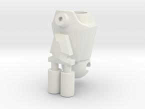 Arm Gun in White Natural Versatile Plastic