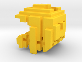 Pacman Cubed, Small in Yellow Strong & Flexible Polished