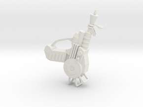 Ray Gun in White Natural Versatile Plastic
