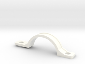 Front Mudguard Mounting - Inside in White Strong & Flexible Polished