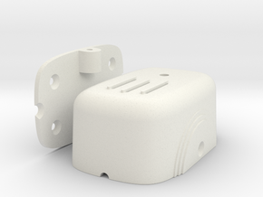 Art-Deco L-Pad Volume Control Housing in White Natural Versatile Plastic
