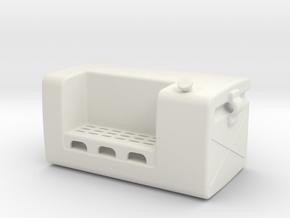 Fuel-tank-small LH in White Natural Versatile Plastic