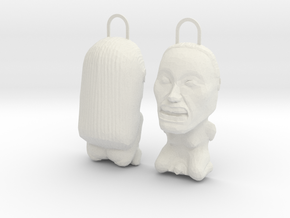INDIANA JONES FERTILITY IDOL FRONT & BACK in White Strong & Flexible