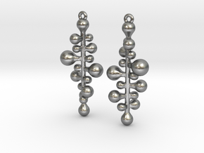 twist pair earing/parts in Natural Silver