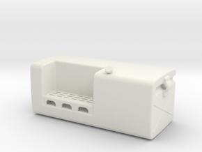 Fuel-tank-large LH in White Natural Versatile Plastic