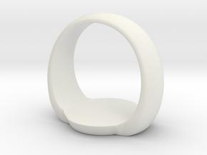 green Lantern ring bigger version in White Natural Versatile Plastic