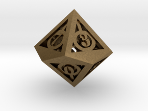 Deathly Hallows d10 in Natural Bronze