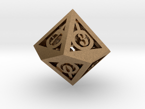 Deathly Hallows d10 in Natural Brass