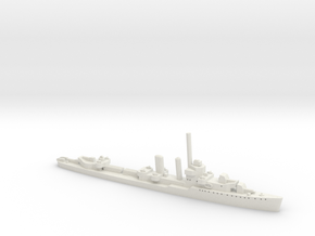 USS Monaghan (Farragut class) 1:1800 in White Natural Versatile Plastic