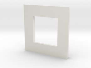 Extrude - 1 in White Natural Versatile Plastic