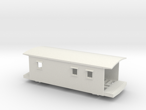 2011 VGN Caboose w/platform planks, window notches in White Strong & Flexible