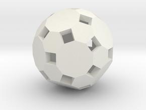 Truncatedicosadodecahedronshell1 in White Natural Versatile Plastic