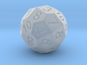 Pentagonal Hexatriacontahedron Dual D6 in Smooth Fine Detail Plastic
