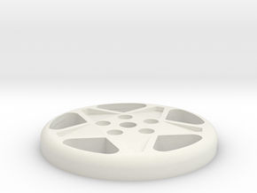 BUTTON CROMODORA WHEEL 328 in White Natural Versatile Plastic