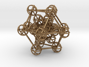 Metatron's Hypercube Variation 60mm 1.5mm  in Natural Brass