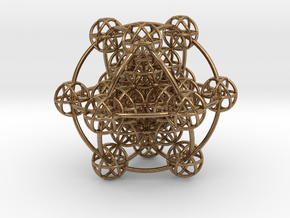 3D Metatron's Sphere: based on Metatron's Cube in Natural Brass