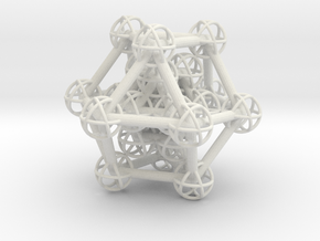 Hyper Cuboctahedron study in White Natural Versatile Plastic