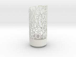 Light Poem Final RMB in White Natural Versatile Plastic
