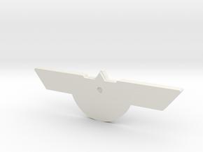 El Al Pilot Tag: Captain in White Natural Versatile Plastic