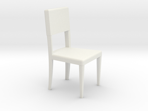 1:24 Curved Chair 3 in White Strong & Flexible