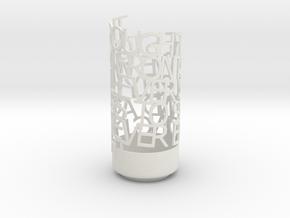 Light Poem - VNV Nation / Perpetual in White Natural Versatile Plastic