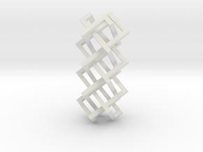 Right-angled Braidwork I in White Natural Versatile Plastic